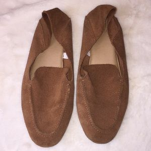 A New Day brown leather upper slip on shoes.